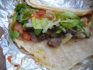 Beef Tongue taco from the Inwood taco cart | by Tacos Por Vida