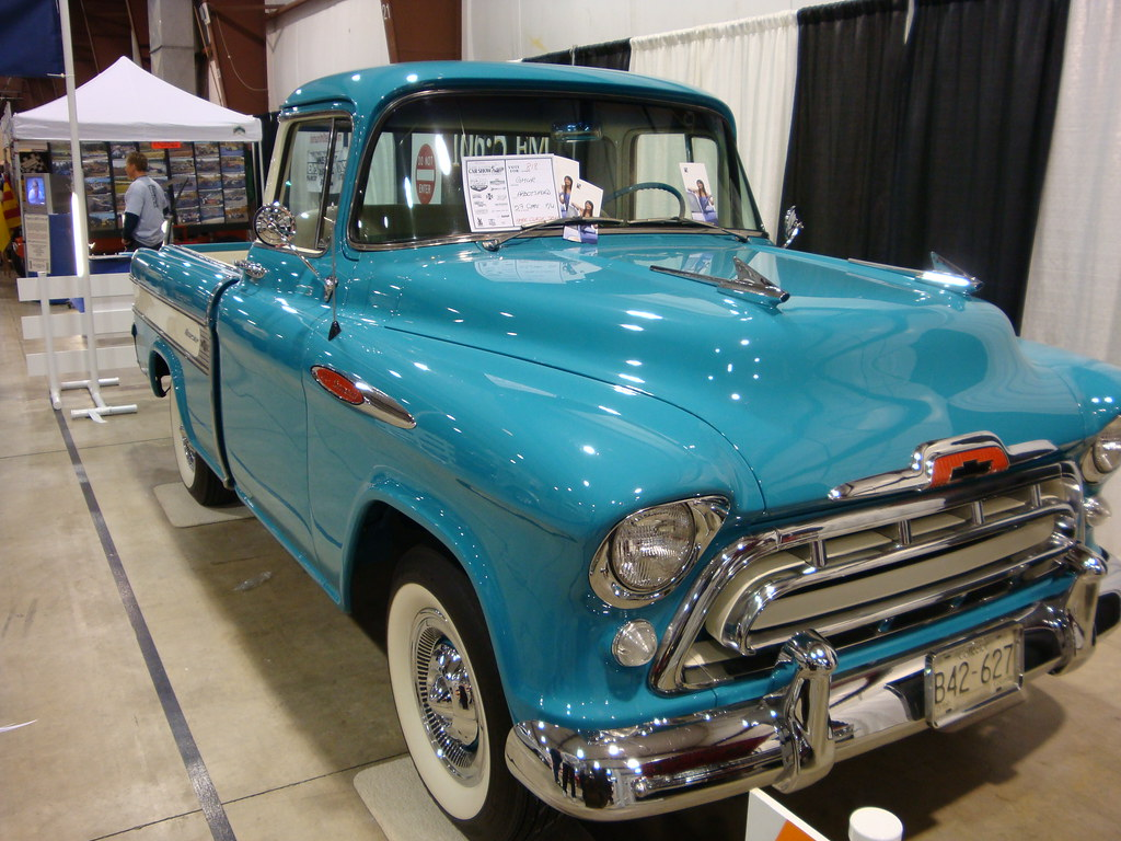 1957 Chevrolet Cameo Pickup Truck Custom Cab Flickr Chevy By