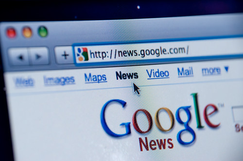 Google News website screenshot | by Spencer E Holtaway