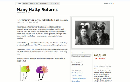 Many Hatty Returns | by Blogging Women