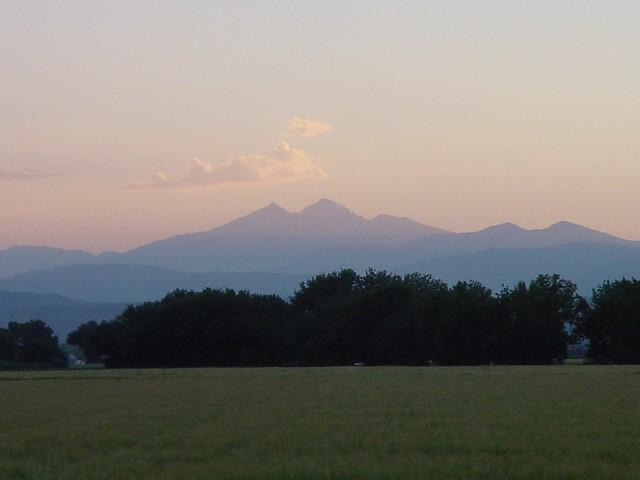 Longs Peak Sunset Jun04