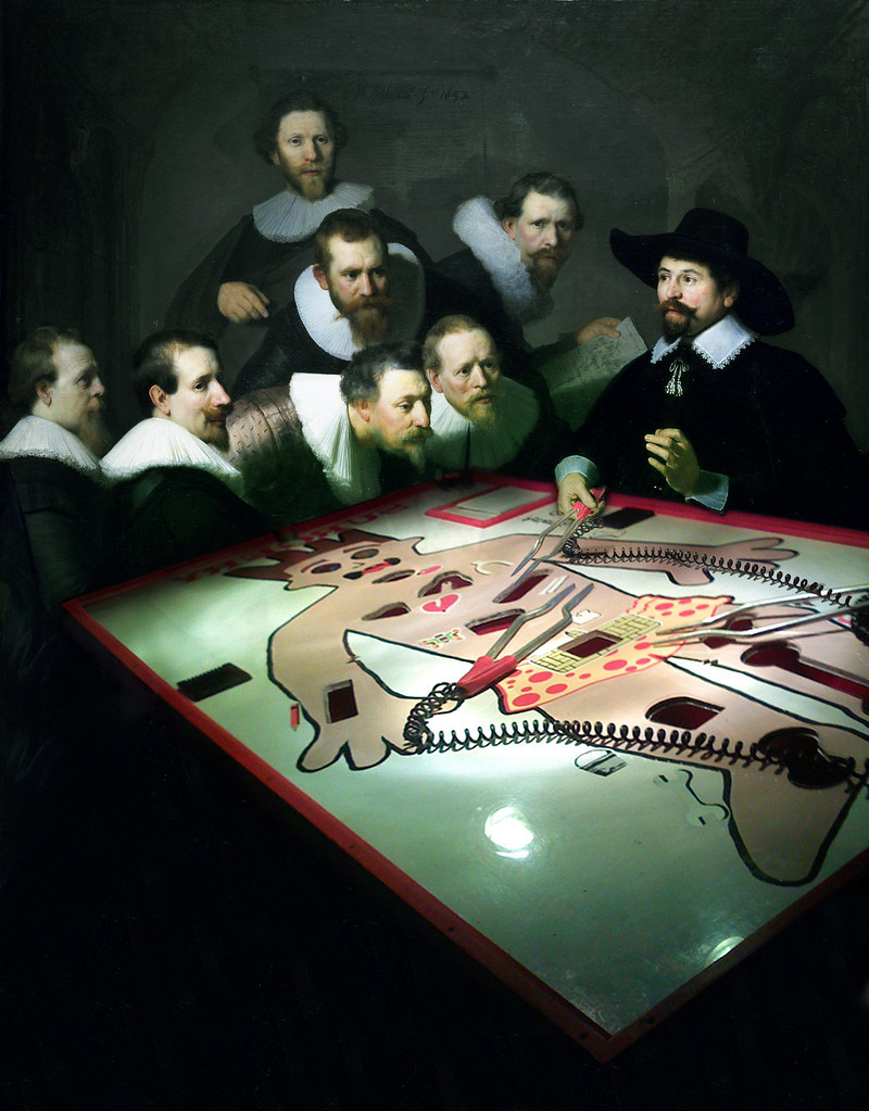 Modern day anatomy Lesson of Dr. Nicolaes Tulp - Rembrandt… | Flickr