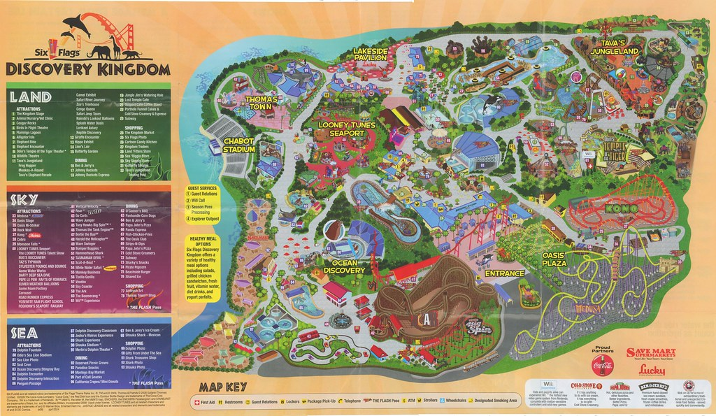 Six Flags Discovery Kingdom Park Map, 2009 | www.sixflags.co… | Flickr