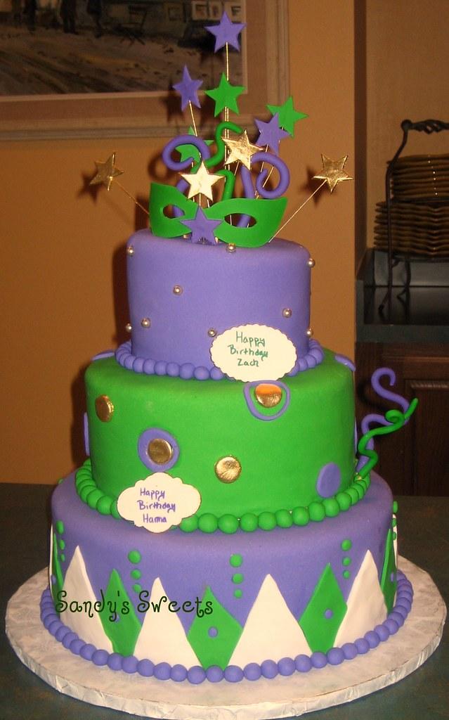 Mardi Gras Birthday Cake Fondant Cake With Sugarpaste Acce Flickr