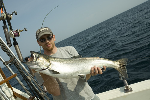 Fishing salmon lake michigan 51 king salmon fishing for Lake michigan salmon fishing
