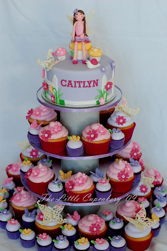Caitlyn S Fairy Birthday Cupcake Tower Created For A 7th