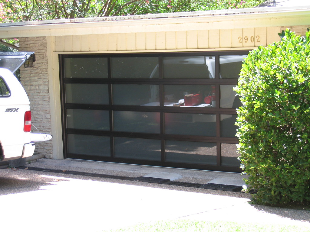 Frosted glass garage door with bronze anodized aluminum flickr frosted glass garage door with bronze anodized aluminum by gdsanders rubansaba