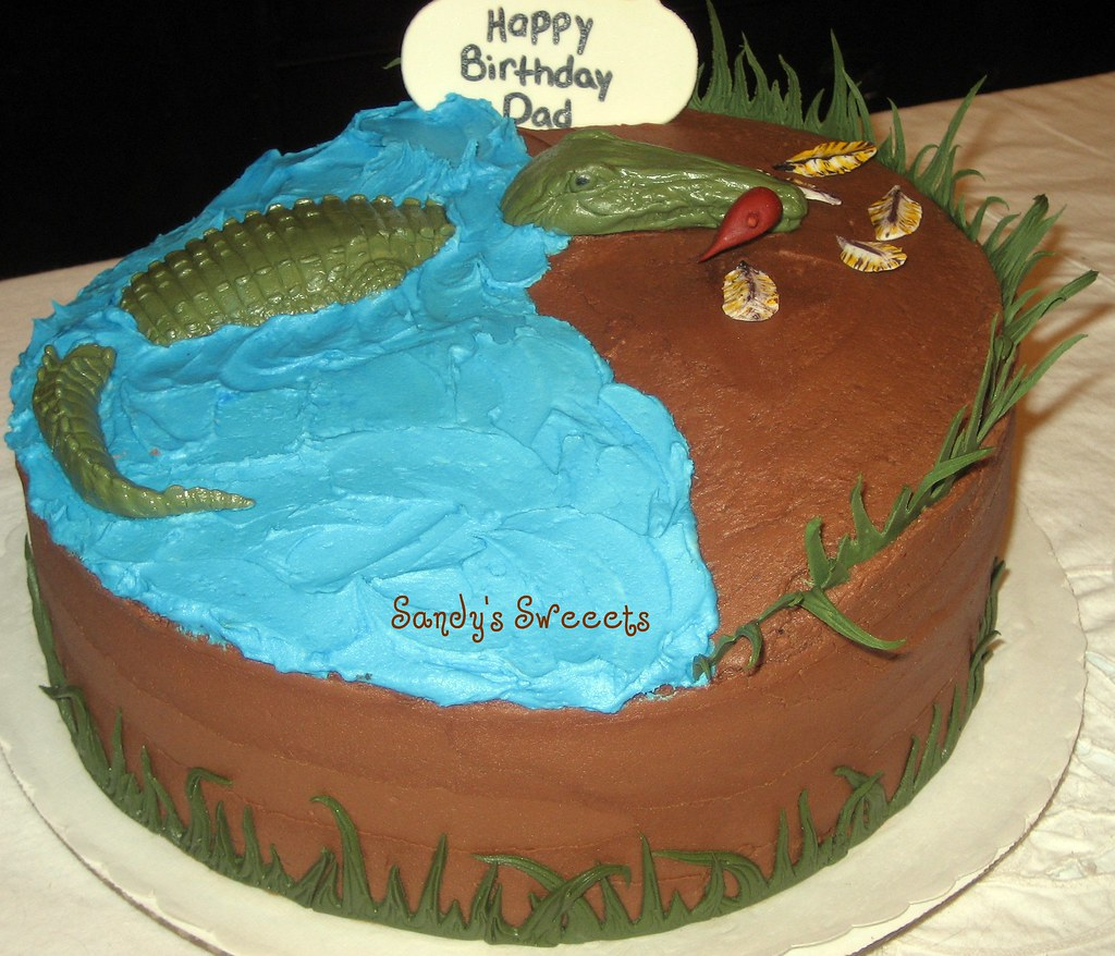 Gator Birthday Cake Chocolate Birthday Cake For A Man Who Flickr