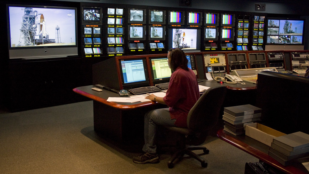 Master Tv Control Room 2 Nasa Tv Master Control Minutes Flickr