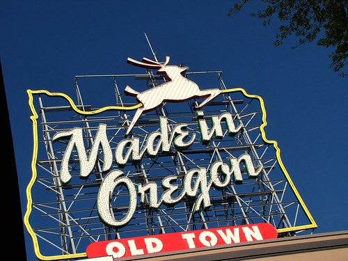 made in oregon sign (white stag) | by Photos by Mavis