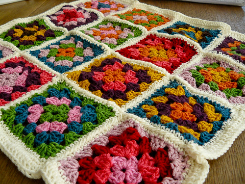Granny Square - Chair Cushion... in progress | by Glasglocke