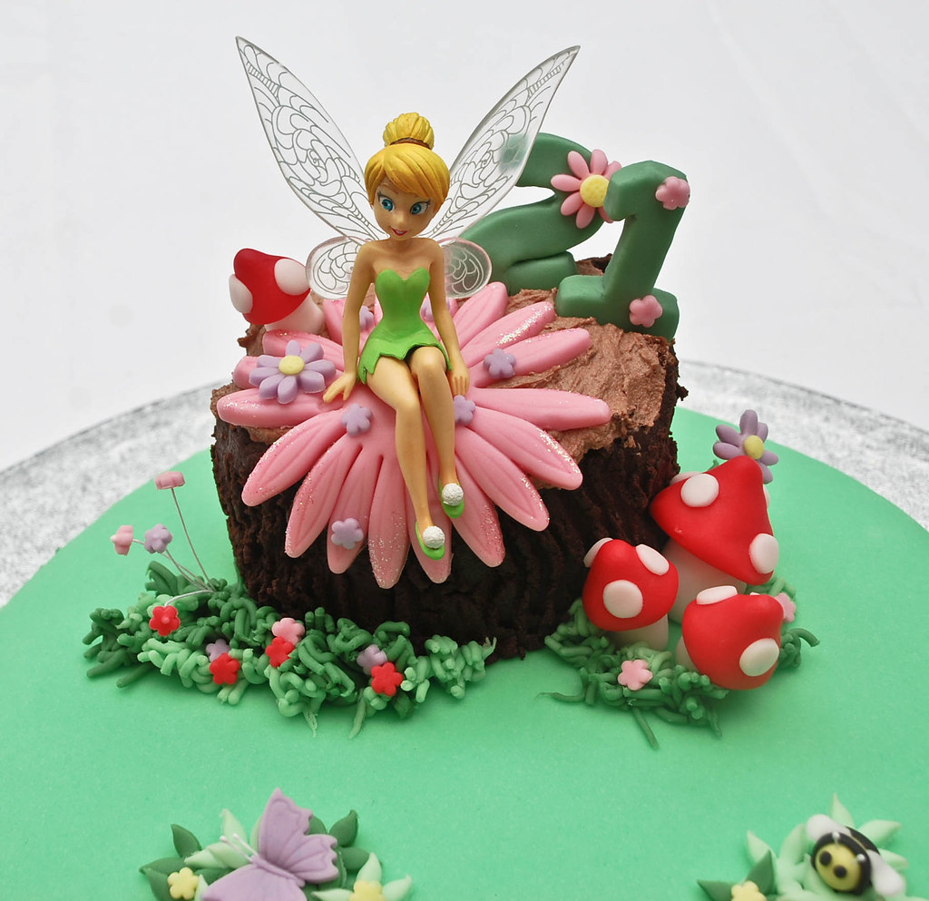 Tinkerbell Fairy Birthday Cake Visit Me And Like My Facebo Flickr