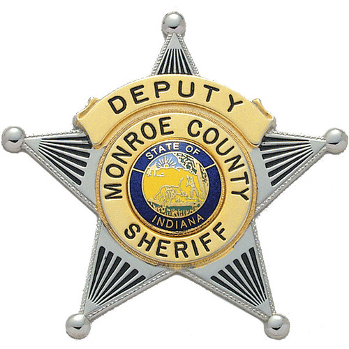 Monroe county in sheriff deputy badge bloomington indian for Bureau of motor vehicles bloomington indiana