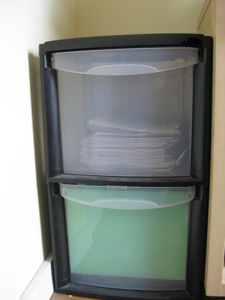 ... Black Plastic Filing Cabinet   By Marcylynne