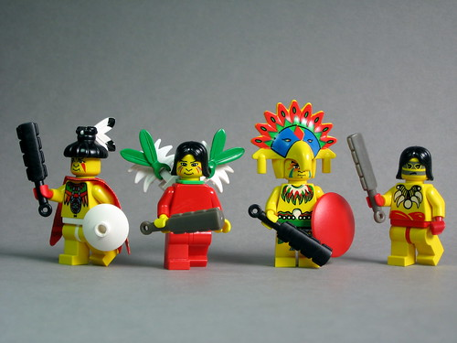 Aztec Warriors with BrickForge Tribal Swords | by Dunechaser