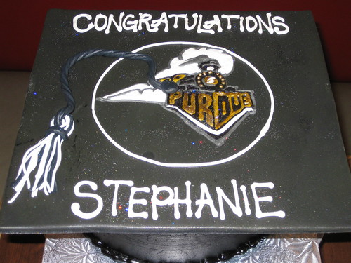 Purdue University Graduation Cap Cake The Sugar Me Baker