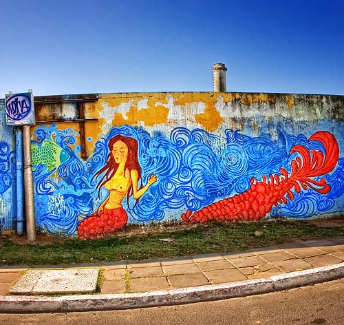 Zagreb Daily Photo: Mermaid graffiti