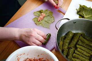 Making Grama Sanom's Grapeleaves | by convergingcuisine