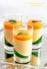 Apricot Panna Cotta With Mint Gelée & Apricot Sauce | by *bossacafez