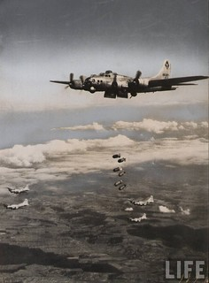 B-17 bomb run | by D. Sheley