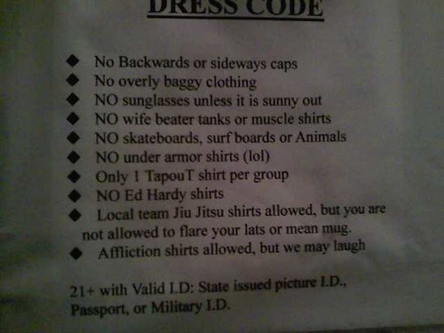 In other words, no D-bags allowed | by passiveaggressivenotes