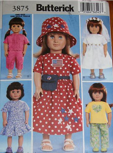 butterick-3875-sewing-pattern-american-girl-doll-clothes | Flickr