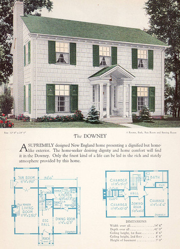 1928 Home Builders Catalog The Downey