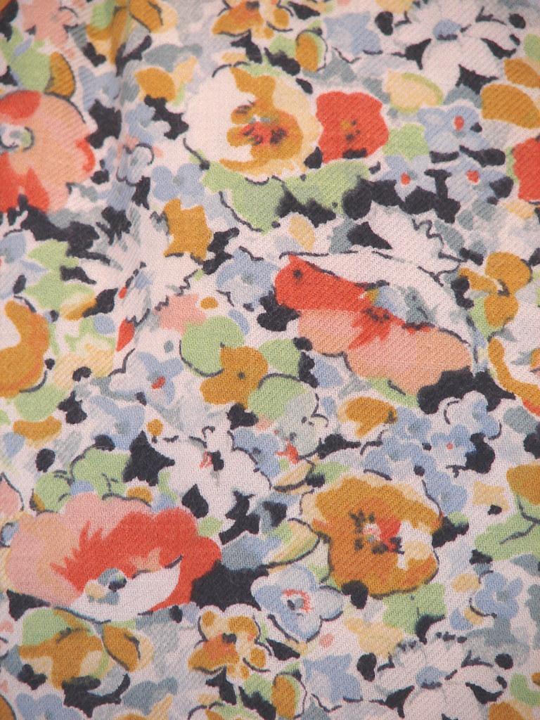 Vintage Floral Print Floral Print Detail From A Vintage Suit Great Floral Print Flickr
