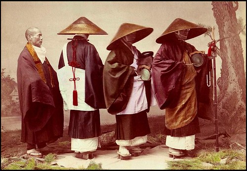 THREE PIOUS PILGRIMS AND A PRIEST in T. ENAMI'S YOKOHAMA STUDIO ---  Fashions of Faith in OLD JAPAN | by Okinawa Soba (Rob)