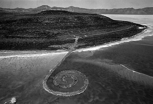 Image result for spiral jetty robert smithson