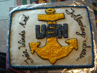 Navy Chief Retirement Cake | by beccatowle