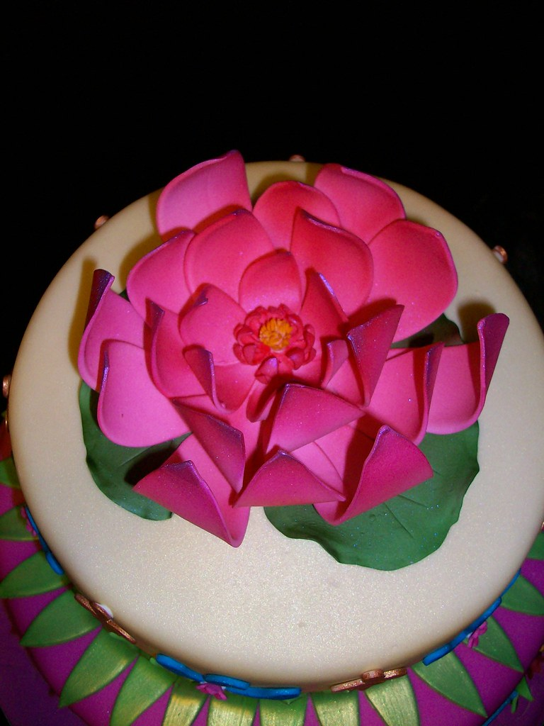 Gumpaste Lotus Flower Sandra Durbin Flickr