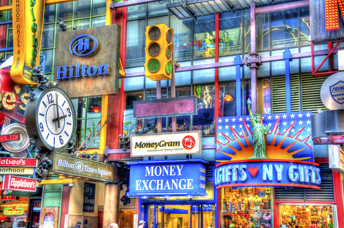 Signs of Times Square in HDR | by iamNigelMorris