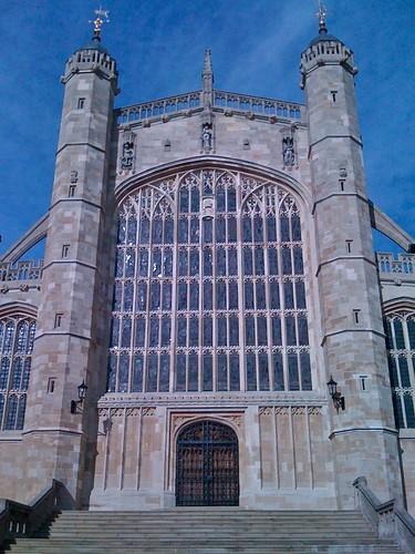 West Door And Great West Window Of St George S Chapel Win