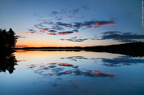 Midsummer cloud reflection | by Rob Orthen