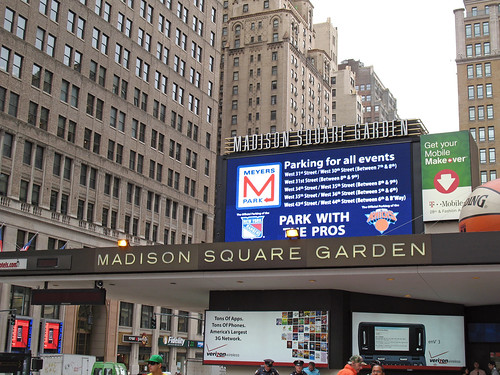 New york city madison square garden marquee madison squar flickr for Madison square garden employment