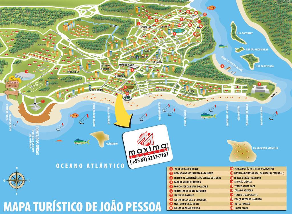joao pessoa mapa Ilustração   Mapa João Pessoa   Ilustração para folder turís…   Flickr joao pessoa mapa