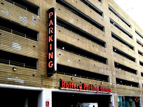 battery parking garage near the battery tunnel exit lower flickr. Black Bedroom Furniture Sets. Home Design Ideas