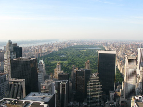 A birds eye view of Central Park in Manhattan - New York | by Getty72