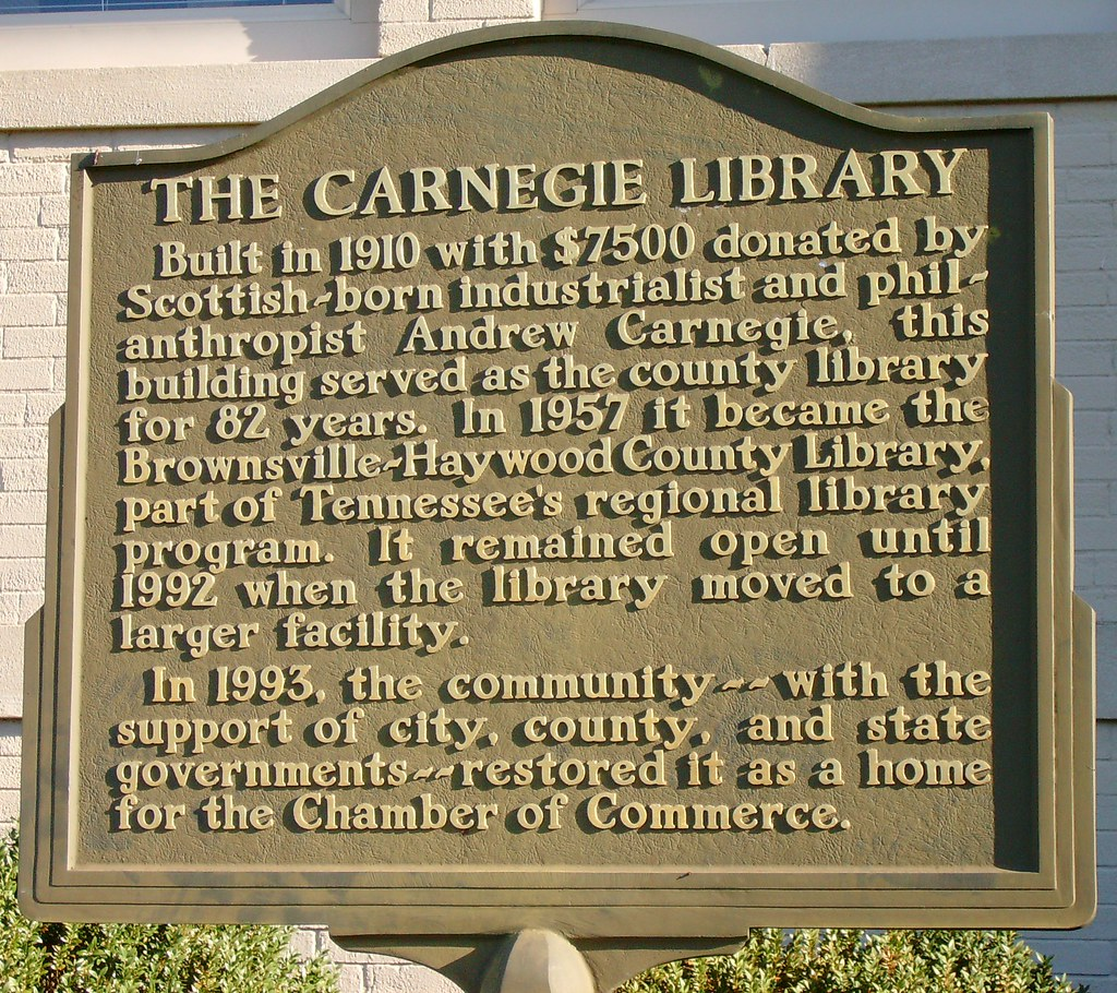 Tennessee haywood county brownsville -  Old Carnegie Library Marker Brownsville Tennessee By Courthouselover
