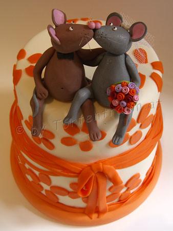 Maus Brautpaar Auf Retro Torte Wedding Cake Mouse Bride A Flickr