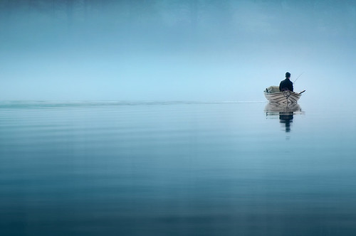 The lonely fisher | by Mikko Lagerstedt
