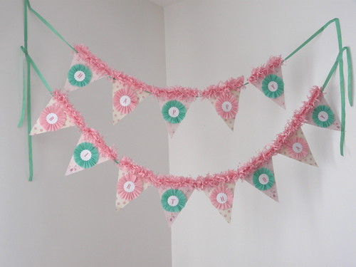 Pink/Mint Party Banner | by silverspoonscraps