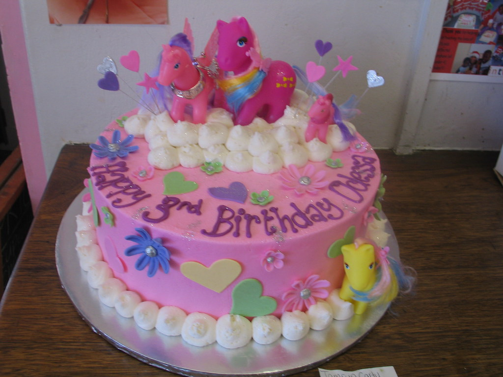 My Little Pony Birthday Cake On Clouds Charlys Bakery Flickr