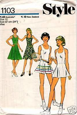 Vintage Sewing Pattern 1970s Tennis Dress Blogged Here
