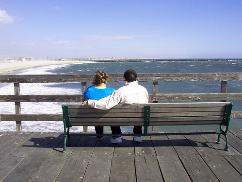 Couple on Bench on Pier | by ozfan22