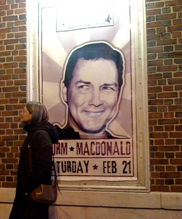 After seeing Norm MacDonald 2/21/09 at the Wilbur Theater
