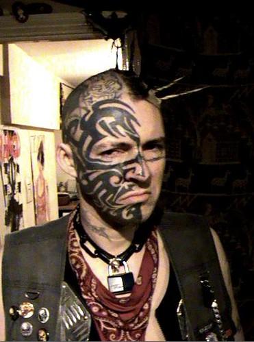 New Blog 1 >> punk face tattoo | Sid Skully Face Tattoo. | Harri Skully ...