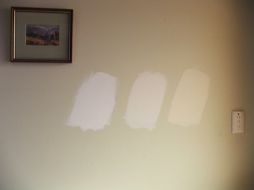 Paint Samples Dulux Shades Of White Left To Right