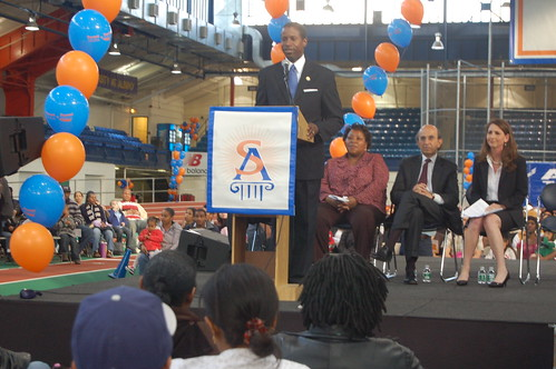 Malcolm Smith speaks at Harlem Success lottery | by ChalkbeatNY